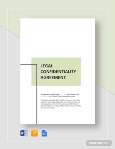 professional legal confidentiality agreement template