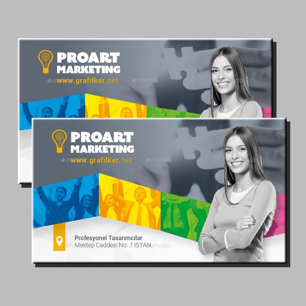 professional marketing business card layout