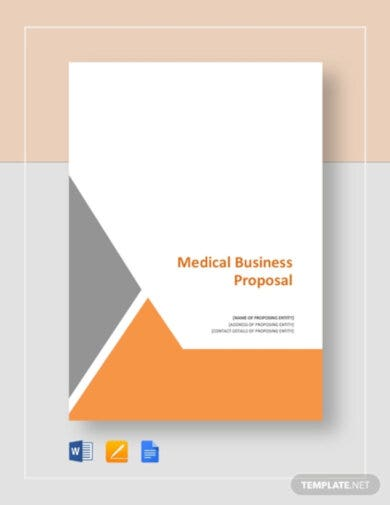 professional medical business proposal template