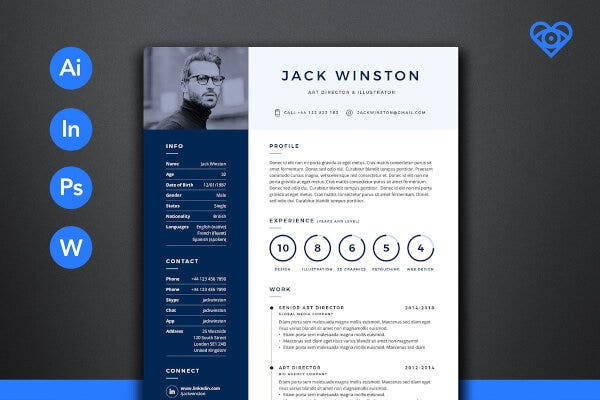 Professional Photographer Resume Template