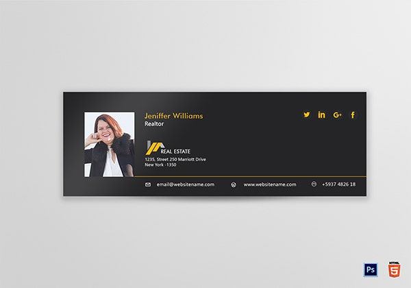 professional realtor email signature template