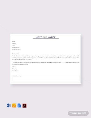 professional tenant move out letter template1