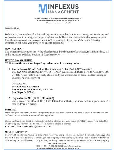 Professional-Tenant-Welcome-Letter Late Rent Letter Template on payment tenant format, explanation for,