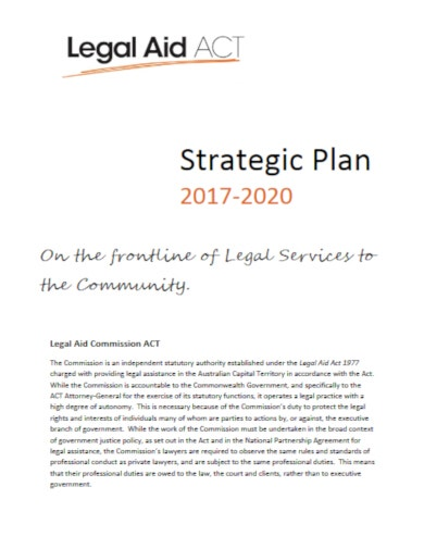 progressive legal strategic plan template