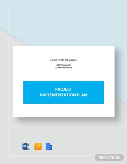 project implementation plan template