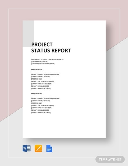 Project Status Report Templates Google Docs Ms Word Pages Pdf Free Premium Templates
