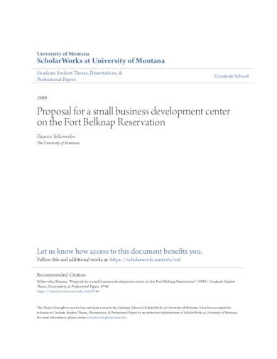 proposal for small business development