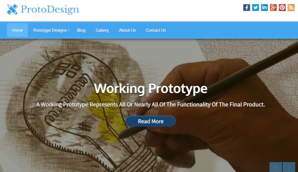 proto design responsive wordpress theme