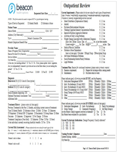 psychological medical evaluation form template