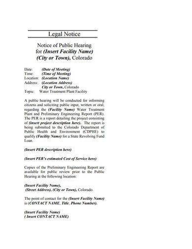 public hearing legal notice template