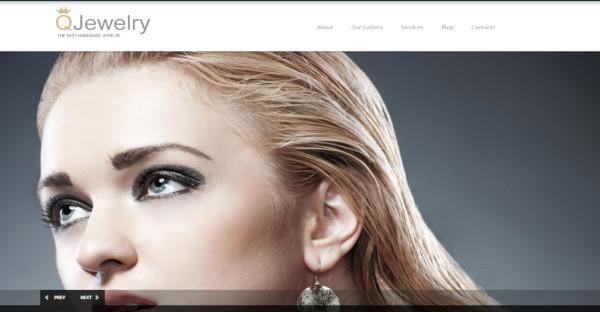 q jewelry html based wordpress theme
