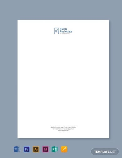 real estate agency letterhead template1