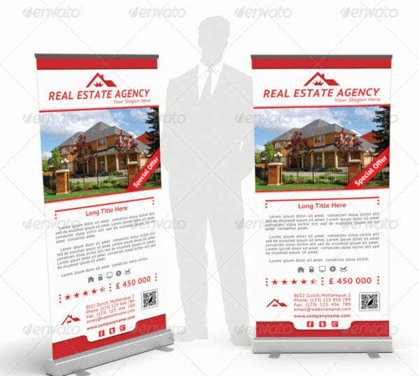 real estate agency rollup banner