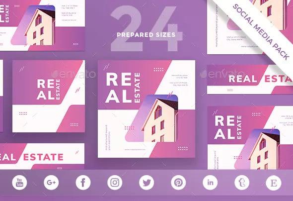 real estate agency social media template