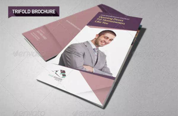 real estate agent brochure in psd