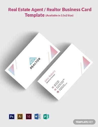 real estate agent realtor business card template
