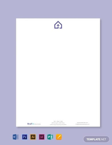 real estate company letterhead template2