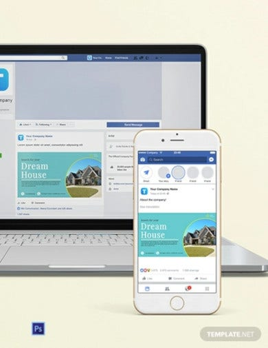 real estate facebook ad banner template