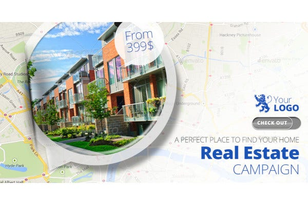 real estate facebook banners ads