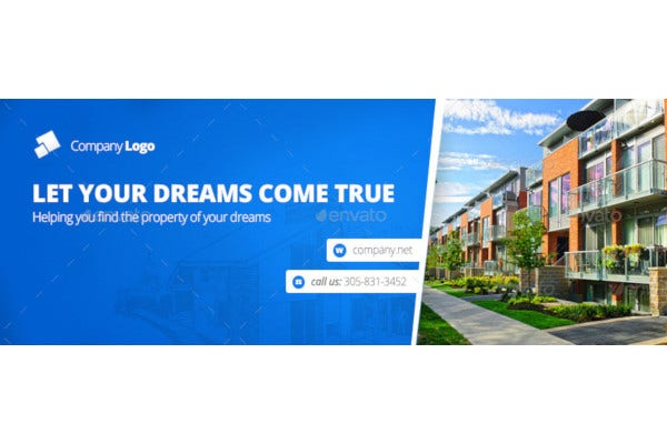real estate facebook cover editable