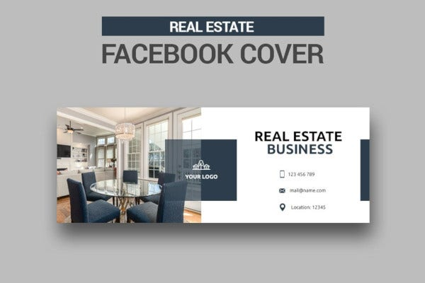 real estate facebook cover in png