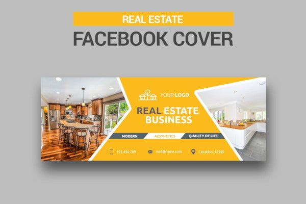 real estate facebook cover in psd