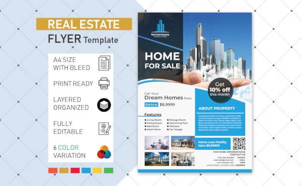 real estate flyer poster