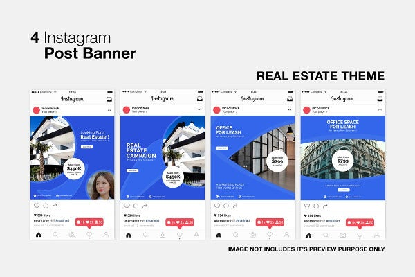 real estate instagram editable