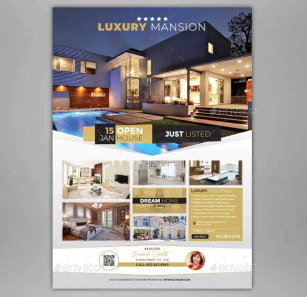 real estate listing flyer example
