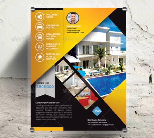 real estate listing promotion flyer