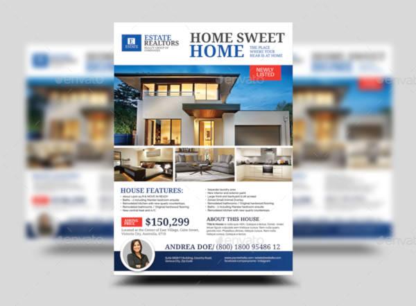 real estate modern house listing flyer