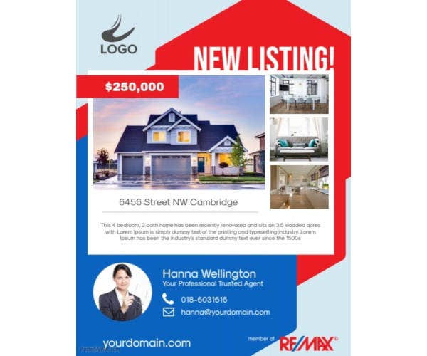 real estate new listing flyer poster