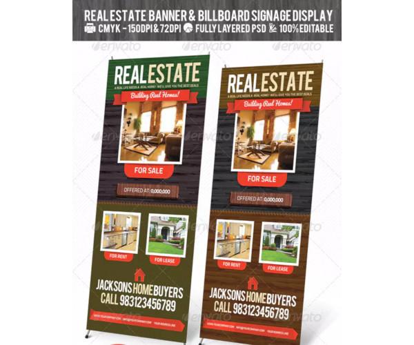 real estate outdoor banner signage