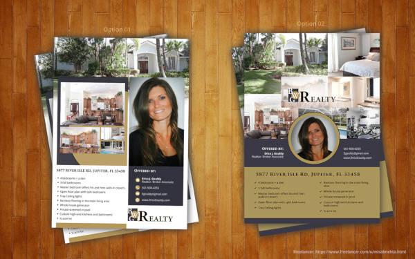 real estate property flyer design