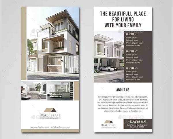real estate rack card in psd