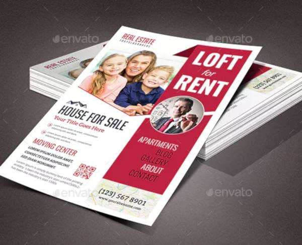 real estate rental flyer template