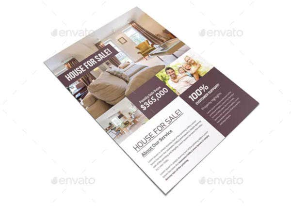 real estate rental flyer in psd