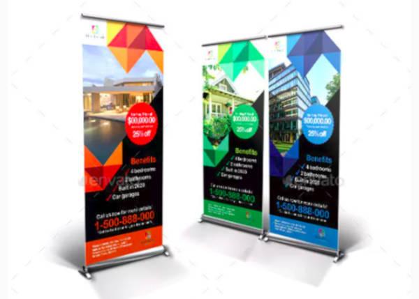 real estate roll up banner sample