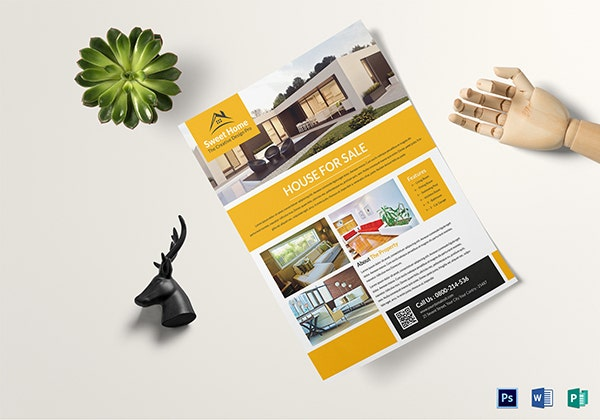 real estate sales flyer template