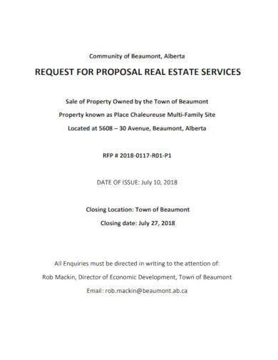 real estate service request for proposal