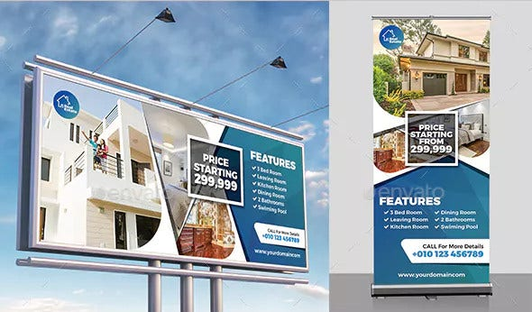 real estate signage in vector