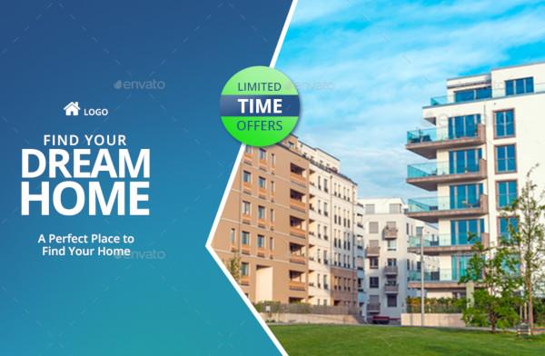 real estate social media template editable