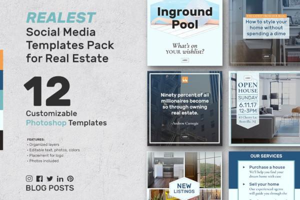 real estate social media template example