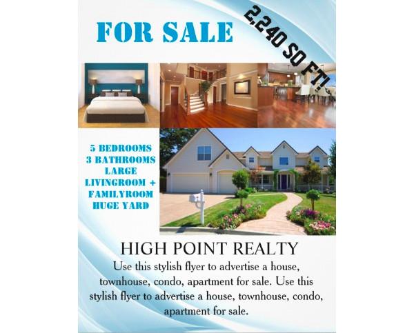 real estate for sales flyer design