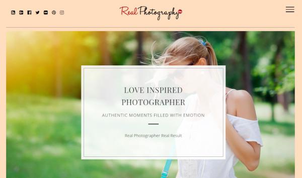 real photography html5 wordpress theme