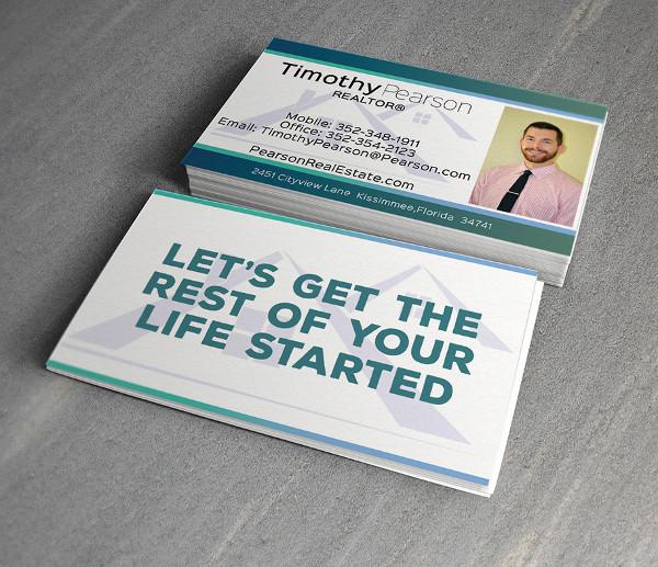 realtor business card in vector