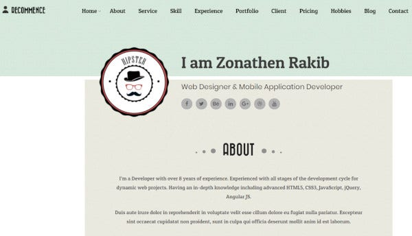 recommence drag and drop option wordpress theme