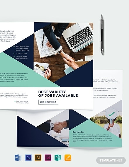 recruitment bi fold business brochure design