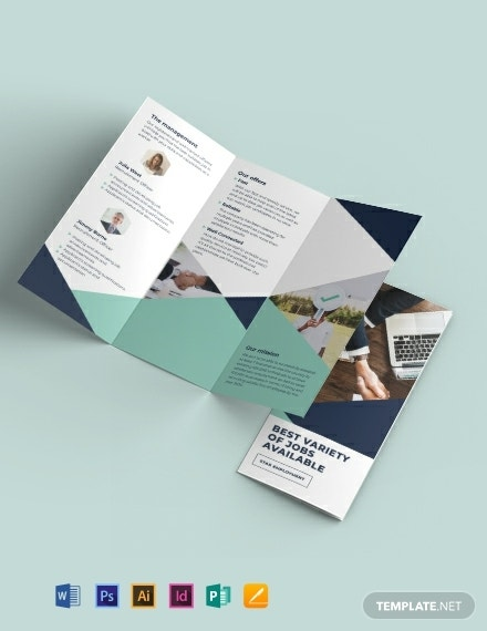 recruitment tri fold business brochure format
