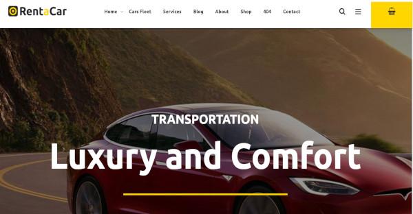rentacar pbakery page builderwordpress theme